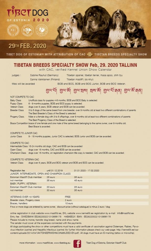 Tibetan Breeds Specialty Show 2020