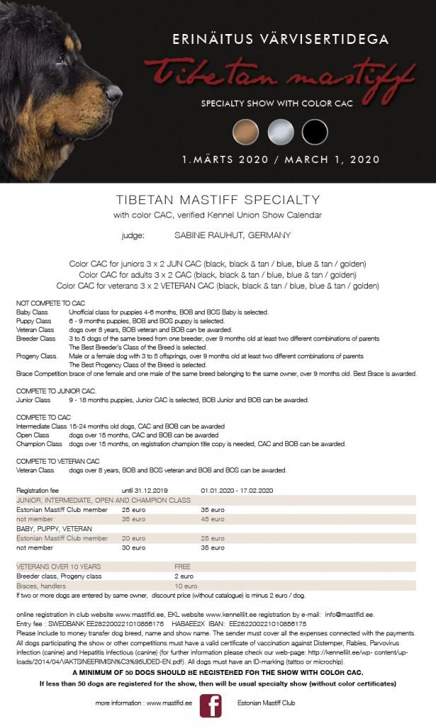 Tibetan Mastiff Specialty